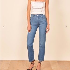 NWT Reformation Cynthia High Relaxed Jeans